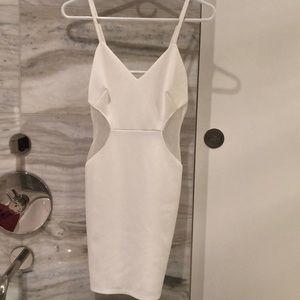 F21 white clubbing dress